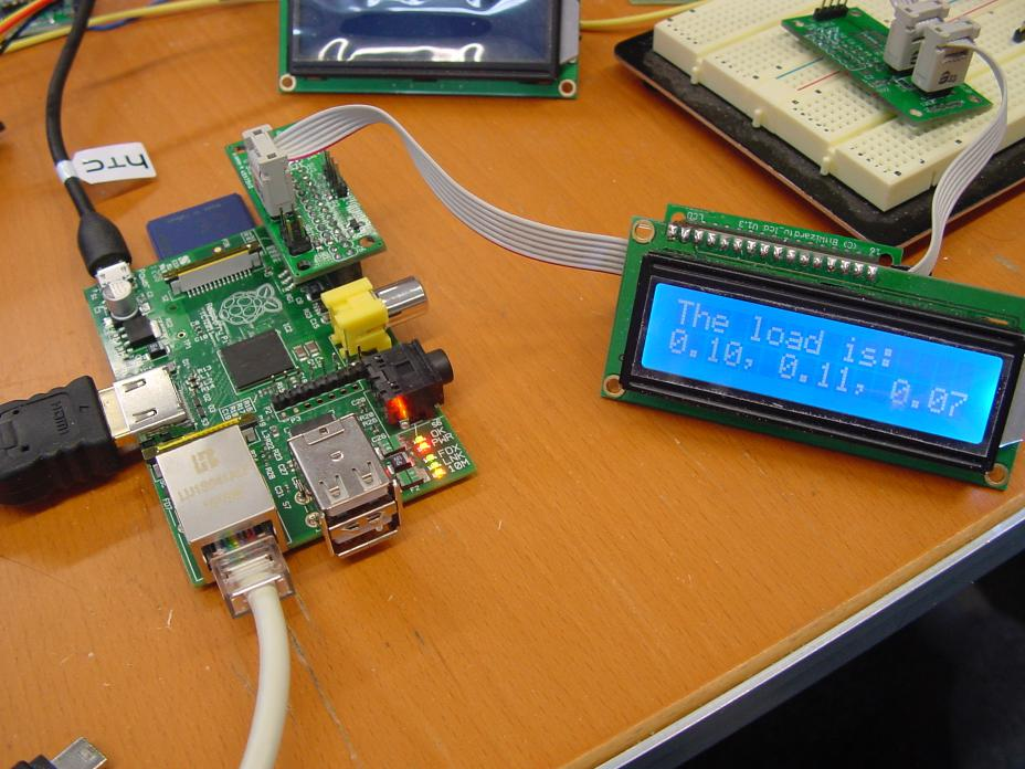 Raspberry pi connected to SPI_LCD.